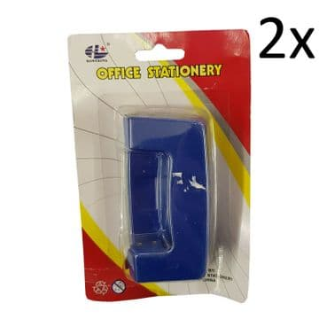 2 x OFFICE STATIONERY HOLE PUNCH school paper punch hole maker
